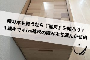 積み木を買うなら『基尺』を知ろう!1歳半の娘に4cm基尺の積み木を選んだ理由