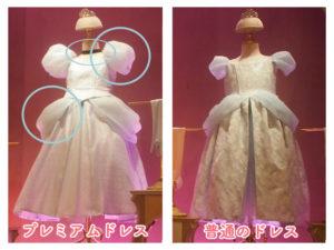 プレミアムシンデレラのドレスの違い