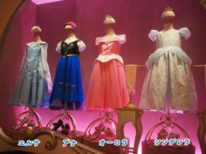 プリンセスのドレス(エルサ、アナ、オーロラ、シンデレラ)
