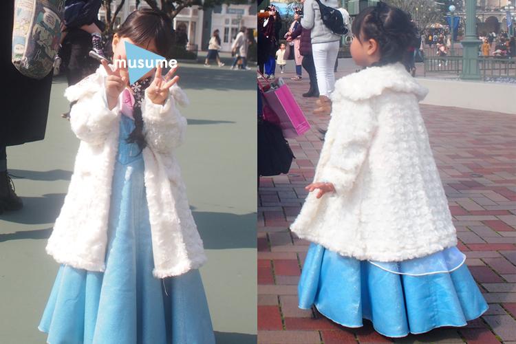 ディズニープリンセスドレスの防寒対策