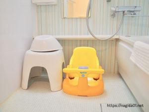 エピナール那須のキッズルームのお風呂ベビーチェア