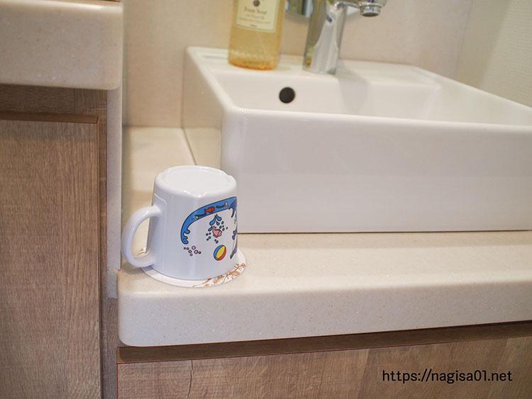 エピナール那須のキッズルームの洗面台